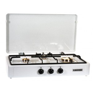 rechaud gaz multigaz 3 feux blanc g emaillee mezieres. Black Bedroom Furniture Sets. Home Design Ideas