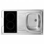 EVIER INOX REVERSIBLE 1 CUVE 100 CM DOMINO INDUCTION