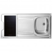 EVIER INOX REVERSIBLE 1 CUVE 120 CM DOMINO INDUCTION